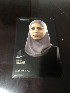 Nike Pro HIJAB Performance Hijab Atmosphere Grey/White Size XS/S