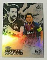 2018-19 Topps Chrome UEFA Superstar Sensations Holo Lionel Messi FC Barcelona