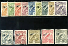 "New Guinea 1931 ""Bird of Paradise"" set complete MLH. SG 163-176. Sc C14-C27."