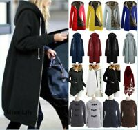 Womens Plus size Parka Baggy Outwear Tops Warm Long Sleeve Hoodie Pullover UK