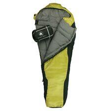 10T Innoko 350L - Saco formato momia individual, 215 x 85/55 cm, negro/amarillo,