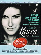 PUBLICITE ADVERTISING 015  2009  CHERIE FM radio  LAURA PAUSINI concert à PARIS
