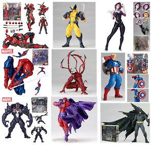 Marvel Legends Amazing Revoltech Kaiyodo deadpool spiderman Action Figures KO