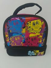RARE SpongeBob Insulated Lunch Bag Multi Colored Andy Warhol 2014