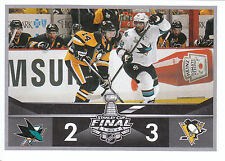 16/17 PANINI NHL STICKER STANLEY CUP FINAL #485 SHARKS PENGUINS KUNITZ *24675
