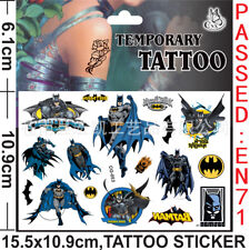 Superhero Batman Kids Gift Temporary Art Tattoo Sticker Removable Waterproof