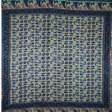 Couverture indienne Tenture pastorale mauve bleu vert 240x210cm
