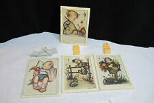 Vintage Hummel Wall Hanger Behind Glass Prints set of 4 Very Rare Mountain Find