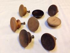 Mixed Lot 8 Antique Domed Concave Round Wood Cabinet Knobs Drawer Pulls 5-5.25cm