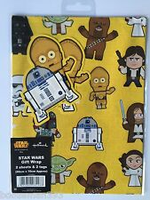 STAR WARS WRAPPING PAPER by HALLMARK 2 GIFT WRAP& 2 TAGS PACK - BIRTHDAY  9043