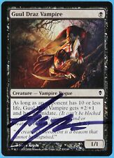 Guul Draz Vampire Zendikar NM Black Common Artist Signed CARD (s1331) ABUGames