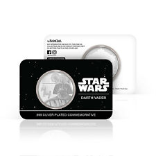 Star Wars Darth Vader Official Silver Plated Limited Edition Collectable Coin