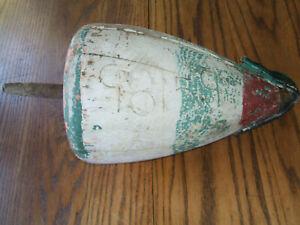 VintageMaine Wood Lobster Buoy, w/ License Numbers?