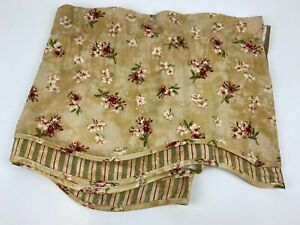 """WAVERLY home valance Floral Striped 37""""x17"""" Fontanelle Tan/Gold Maroon"""