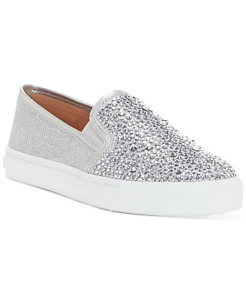 INC International Concepts Sammee Slip-On Sneakers Silver Crystal Women's US 9.5