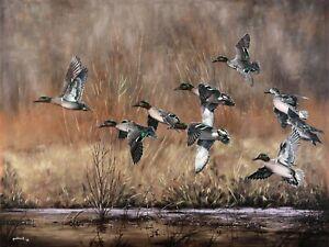 2020 Arkansas Ducks Unlimited Sponsor Print Signed AP Green-Winged Getaway