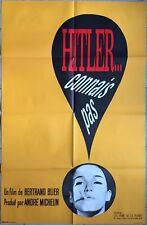 Affiche HITLER CONNAIS PAS Bertrand Blier ZOUZOU Nouvelle Vague 80x120cm 1963 *