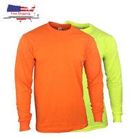 Safety High Visibility/ Hi Vis Long Sleeve Construction Work Shirts NON ANSI