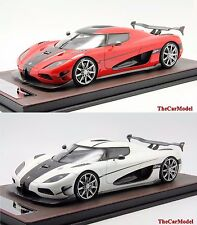 Koenigsegg Agera RS Pearl White, Red Limited 100 pcs FrontiArt 1/18 - No MR BBR