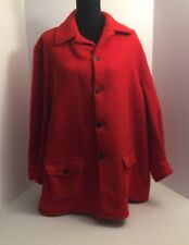 *ORIGINAL Vintage HUDSON'S BAY Red Wool Jacket Made In Canada EUC. Ba11199