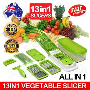 13IN1 A Food Slicer Dicer Nicer Container Chopper Peeler Vegetable Fruit Cutter