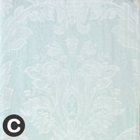 Luxury Duck Egg Blue Aqua French Floral Lined Pencil Pleat Curtain Pair 90 x 90