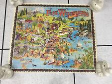 Rare Walt Disney World Fort Wilderness 1985 Comical Poster Map
