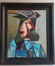 Portrait cubiste constructiviste abstrait