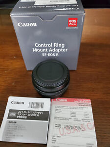 Canon control ring mount adapter ef-eos r. Purchased In March and Used once