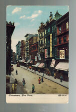 Mint New York City Usa Chinatown Picture Postcard Street View