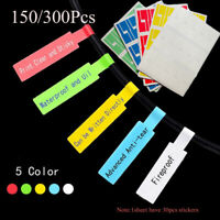 Waterproof Wire Identification Tags Stickers Fiber Organizers Cable Labels