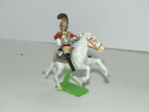 BRITAINS DEETAIL  PAINTED CONVERSION NAPOLEONIC BRITISH CUIRASSIER ATTACKING