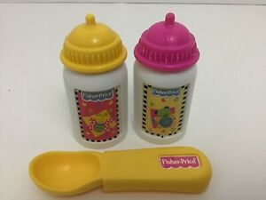 Fisher Price Little Mommy Baby Doll Bottles Spoon Replacement Pieces Lot Of 3