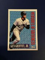 1994 Topps #606 KEN GRIFFEY JR Measure Of Greatness Seattle Mariners SHARP LOOK