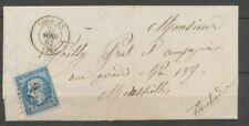 1862 Lettre N°14 PC 1760 Lorgues VAR(78) Ind 6 cote 25€. TB X1955