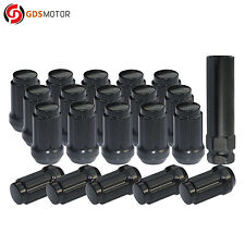 "20 Black Steel 6-Spline Acorn Wheel Lug Nuts 12x1.25 for Nissan Subaru 1.4"" Tall"