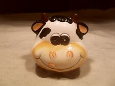 New ~ Ceramic Cow Face Shape Bank