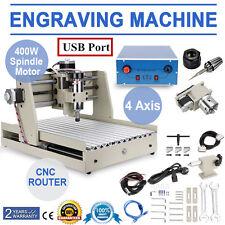 USB PORT! 4 Achse 3040 Fräsmaschine CNC Router Graviermaschine Graviergrät Mach3