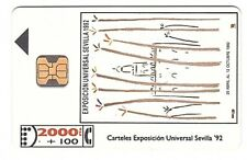 Espagne Chip Phonecard - Expo Sevilla '92 - CP004 - Used/Usagée (Verso With M)