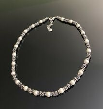 Carolee silver tone Pearl choker necklace