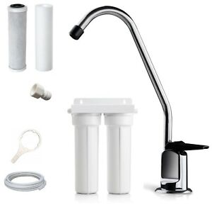 Premium Twin Undersink Water Filter System with fittings (DIY)