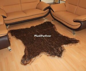 5'x 6' Lodge Cabin Brown Grizzly Bear Area Rug Carpet Accents Decor