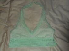 Aerie Green Lace Halter Bralette Size Small  NWOT