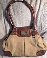 American Living Women's Purse Handbag Tan and Light Brown Medium Sized