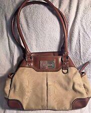 American Living Women's Purse Handbag Tan and Light Brown Medium Sized
