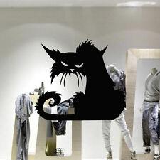 Halloween Black Cat Wall Stickers Vinyl Decal Window Door Decal Removable LA3