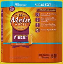 MetaMUCIL 4 in 1 MultiHealth FIBER, Sugar Free, 260 Teaspoons * Orange Smooth *