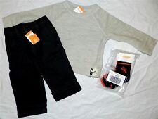 Pant Set 4pc Black Gymboree Lined Oatmeal Shirt Tee Boys sz 12/18 mo New