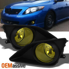 Fits 2009-2010 Corolla CE LE S XRS Yellow Fog Lights w/Switch + Wiring Harness