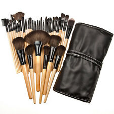 32tlg Make up Pinsel Professionelle Kosmetik Makeup Brush Schminkpinsel Set @#